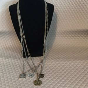 Long multi pendant necklace